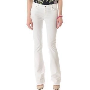 CoH Amber Stretch High Rise White Bootcut Jeans
